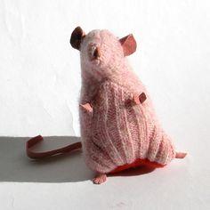 Pink Sweater Scrap Rat/Mouse, via Etsy.