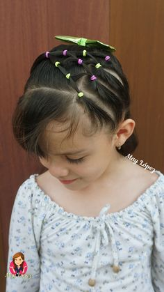 Cute Toddler Hairstyles, Cute Little Girl Hairstyles, Easy Hairstyles For Medium Hair, Baby Girl Hairstyles, Medium Hair Styles, Curly Hair Styles, Hairdos For Little Girls, Hairstyles For Toddlers, Childrens Hairstyles