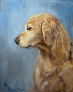 Golden Retriever, Lydia Rose Spencer - Lydia Rose Fine Art #dog #painting #portrait #lydiarosefineart #lydiarosespencer