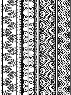 indian block printed border patterns - Google Search