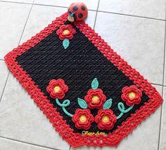Vasro Artes: Dia do Amigo e Tapete Garden de Crochê