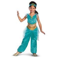 Disney+Jasmine+Deluxe+Sparkle+Toddler+/+Child+Costume