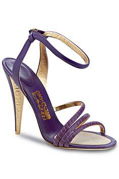 Salvatore Ferragamo Purple Sandal Spring Summer 2012 #Shoes #Heels