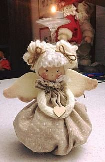 Doll angel pattern or just-a-doll patterncute angel cloth dolls,very nice For Angel mobile .suggestion for wings on dolls Christmas Angel Ornaments, Felt Christmas, Felt Ornaments, Christmas Decorations, Christmas Bells, Angel Crafts, Christmas Projects, Felt Crafts, Holiday Crafts