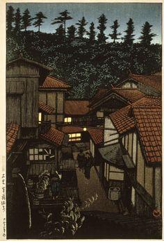 Arifuku Hot Spring, Iwami, Kawase Hasui (Japan, 1883-1957), 1924 | LACMA Collections