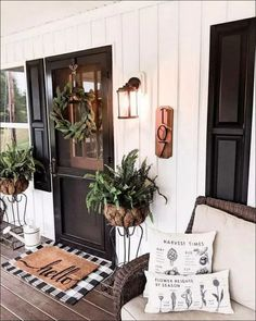 22 Outstanding Do-It-Yourself Rustic Porch Projects Are You Curious? Visit Us For More Rustic Porch Inspirations 22 Outstanding Do-It-Yourself Rustic Porch Projects Are You Curious? Visit Us For More Rustic Porch Inspirations Front Door Entrance, Exterior Front Doors, Entrance Decor, Exterior House Colors, Exterior Design, Entrance Lighting, Exterior Decoration, Entrance Ideas, Entrance Design