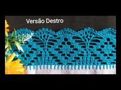 Crochet Stitches Free, Crochet Borders, Crochet Lace, Diy And Crafts, Crochet Earrings, Jewelry, Videos, Crochet Triangle, Crochet Edging Patterns