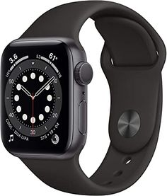 Amazon.com: New Apple Watch Series 6 (GPS, 40mm) - Space Gray Aluminum Case with Black Sport Band Apple Watch Series 3, Used Apple Watch, Smart Watch Apple, Apple Smartwatch, Knitting Patterns Free, Free Knitting, Baby Knitting, Mac Book, Knitted Poppies