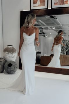 The Honey wedding dress oozes sophistication. A luxurious double-layered Crepe de Chine silk gown,. Shop online or book a bridal showroom appointment today! Wedding Dresses Sydney, Best Wedding Dresses, Bridal Dresses, Unique Dresses, Wedding Reception Dresses, Unique Wedding Dress, Boho Wedding, Civil Wedding Dresses, White Lace Wedding Dress