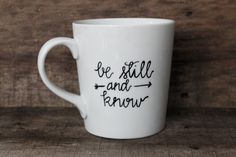 Christian Coffee Mug  Be Still & Know by MorningSunshineShop