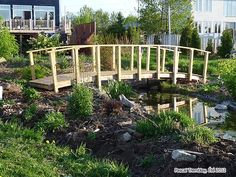 homemade bridges over creeks | build arched bridge for pond stream creek river water garden