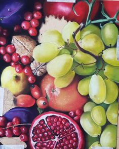 finished today the pomegranate of this pastel painting Fall Fruits, Pomegranate, It Is Finished, Autumn, Painting, Still Life, Granada, Fall, Painting Art