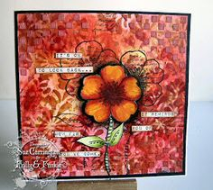 Frilly and Funkie: Saturday Step x Step - Stencilled card