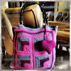 Fall crochet handbag