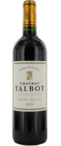 Château Talbot 2005 : Dense, plein, encore jeune, le vin reflète la grandeur du millésime avec le charme de Saint-Julien. Gardez-le encore    En savoir plus : http://avis-vin.lefigaro.fr/vins-champagne/bordeaux/medoc/saint-julien/d16923-chateau-talbot/v16924-chateau-talbot/vin-rouge/2005##ixzz2MkZsK1nh