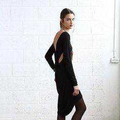 //Fab.com | Back Tie Dress Black