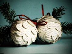 paper pine cones