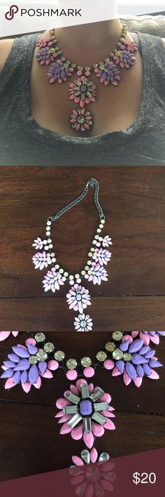BaubleBar necklace Pink and purple rubber dipped necklace. Amazing for work or date night! Jewelry Necklaces