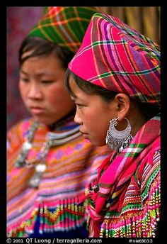 Vietnam | Young Flower Hmong women, Bac Ha.  | © QT Luong