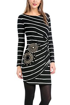Desigual Womens Dress Colette Black Medium *** Be sure to check out this awesome product.(This is an Amazon affiliate link and I receive a commission for the sales)