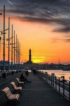 Stunning sunset in Genova (Genoa) :: Liguria :: Italy Broken City, Genoa Italy, Georgia, Italy Summer, Southern Europe, Italy Travel, Bella, The Good Place, Sunrise