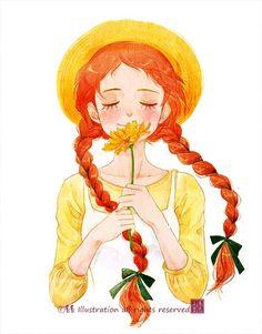 anne of green gables art Anime Art, Watercolor Art, Character Art, Girly Art, Art Drawings, Cute Art, Illustration Art, Cute Drawings, Cartoon Art