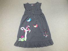 Robe fille 10 ans customisée décor arbre,chouette,oiseaux et fleurs.  http://www.alittlemarket.com/boutique/chouettes_contes_et_cie-863193.html
