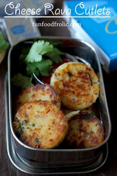 Cheese and cutlet are truly a match made in heaven. Cheese Rava Cutlet is one such delicious fantasy come true. funfoodfrolic.com #snacks #cutlet #cheese