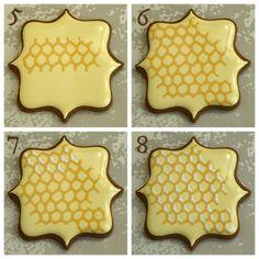 Honeycomb Cookie tutorial