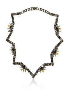 Fallon Area 51 Pointed Crystal Collar Necklace