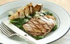 Tangy Grilled Pork Chops with Pears and Blue Cheese | Whole Foods Market