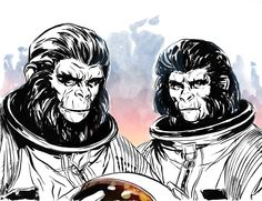 Planet Pulp goes Ape by MarcLaming on DeviantArt Go Ape, Comic Art, Comic Books, Dystopian Future, Planet Of The Apes, 8th Of March, Classic Films, Good Movies, Planets