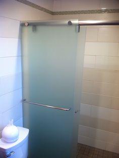 Shower Glass. Glass Shower, Top Freezer Refrigerator, Master Bathroom, Bathroom Ideas, Sink, Kitchen Appliances, Home, Sink Tops, Diy Kitchen Appliances