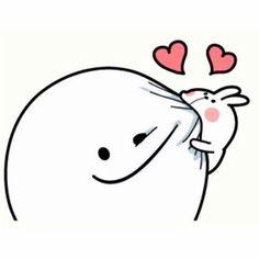61 Ideas for memes heart bear Cute Love Gif, Cute Love Memes, Memes Funny Faces, Cartoon Memes, Cute Cartoon Images, Cute Couple Art, Cute Doodles, Cute Icons, Cute Stickers