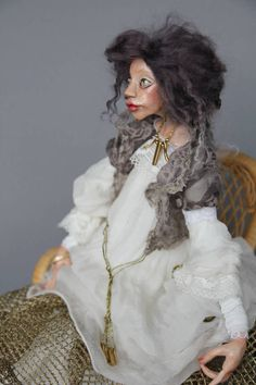 Künstlerische Puppe Gertruda handmade