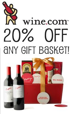 Save 20% on your next purchase of any gift basket at wine .com.  Makes a great Mother's Day gift.  Get your free coupon at http://freeprintableshoppingcoupons.com/wine-com-coupon-20-off-any-gift-basket/