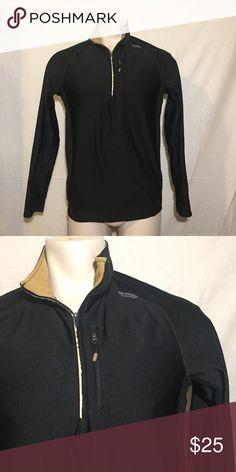 Athletic Quarter-Zip Sweatshirt Black & gold athletic quarter-zip sweatshirt with zip-up chest pocket by Hind Hind Shirts Sweatshirts & Hoodies