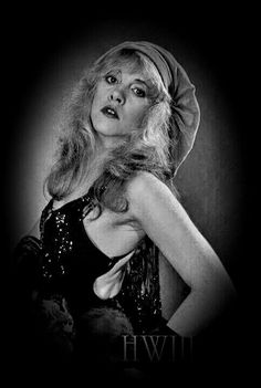 a rare and lovely photo of Stevie  ~ ☆♥❤♥☆ ~    wearing her iconic floppy velvet beret ~   photo taken by her friend and music celebrity, Herbert W. Worthingyon