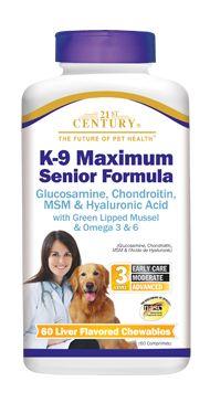 K-9 Maximum Senior Formula- 21st Century Pet Health