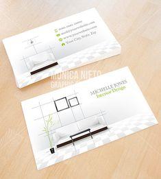 Architecture business card pinterest business card psd psd custom printable interior design business card template interior designer interior decorator fbccfo Images