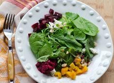 Beet salad with beet pesto