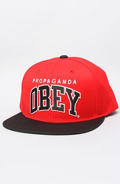 db53922cc72 Obey The Throwback Hat in Red Black   Karmaloop.com - Global Concrete  Culture Men