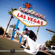 Las Vegas Elopement and Restaurant Reception for Tennile