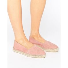 Park Lane Embossed Suede Espadrilles (£35) ❤ liked on Polyvore featuring shoes, sandals, beige, elastic sandals, slip on espadrilles, beige shoes, espadrille sandals and slip-on shoes
