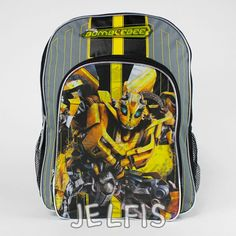 "Jelfis.com - Transformers Bumblebee Boys 16"" Inch School Backpack Bag, $17.99 (http://www.jelfis.com/transformers-bumblebee-boys-16-inch-school-backpack-bag/?page_context=category"