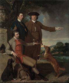 John Hamilton Mortimer · Autoritratto con il padre e il fratello · 1760 · Yale Center for British Art · New Haven