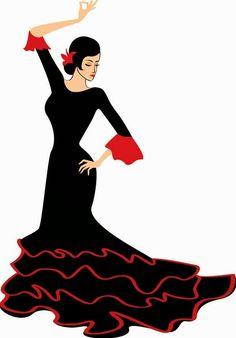 silueta de bailarina flamenca - Buscar con Google                                                                                                                                                     Más