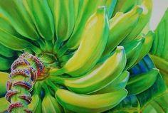 Banana by Laurie Asahara Watercolor ~ 15 x 22