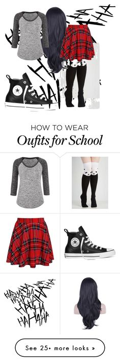 """school"" by katjustine on Polyvore featuring maurices and Converse"