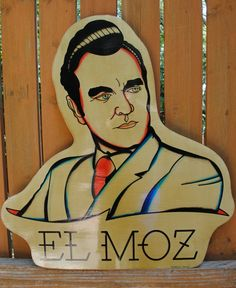 Morrissey Moz the Smith Wood Art Tattoo flash by cristocat on Etsy, $99.00